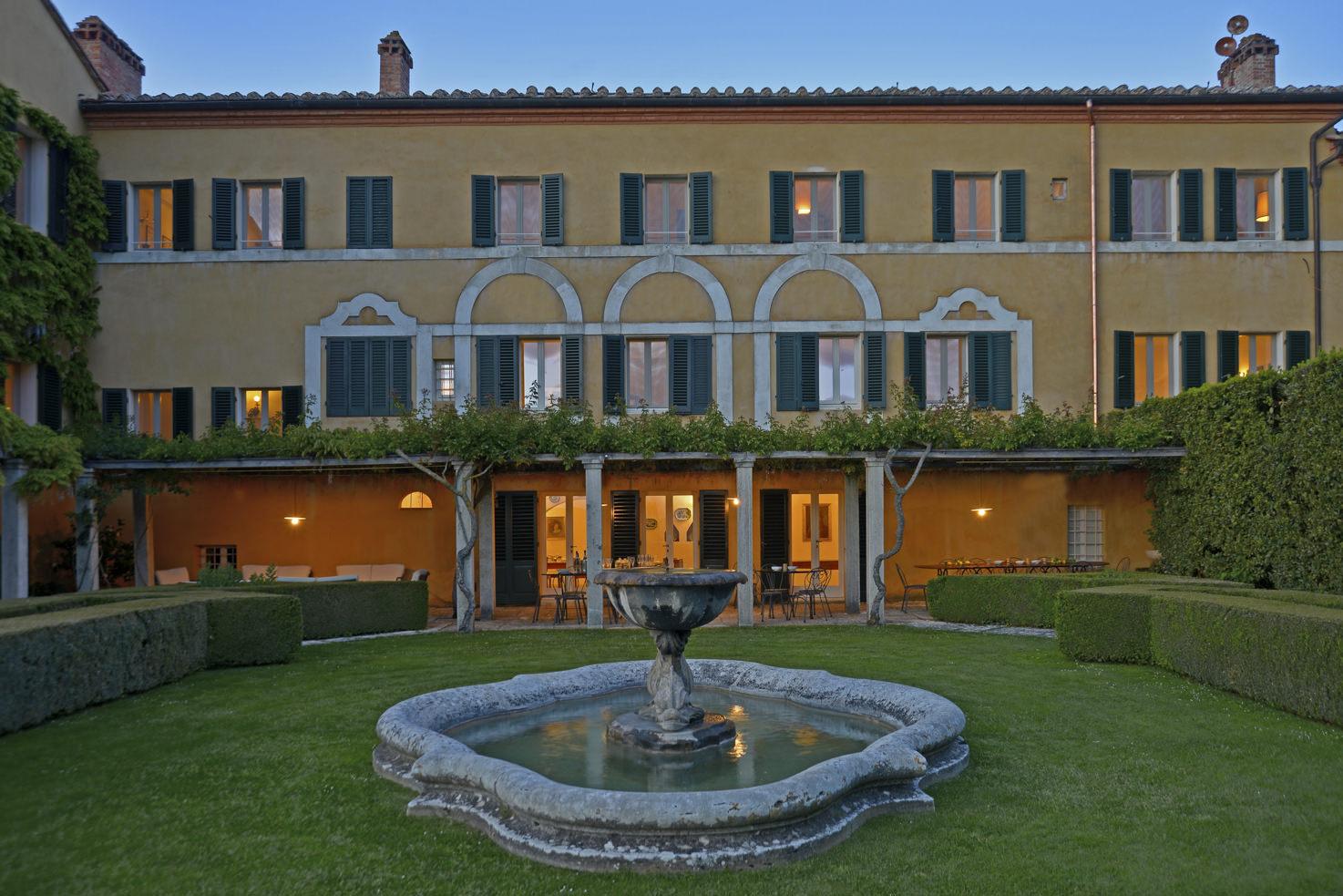 Façade of Villa La Foce