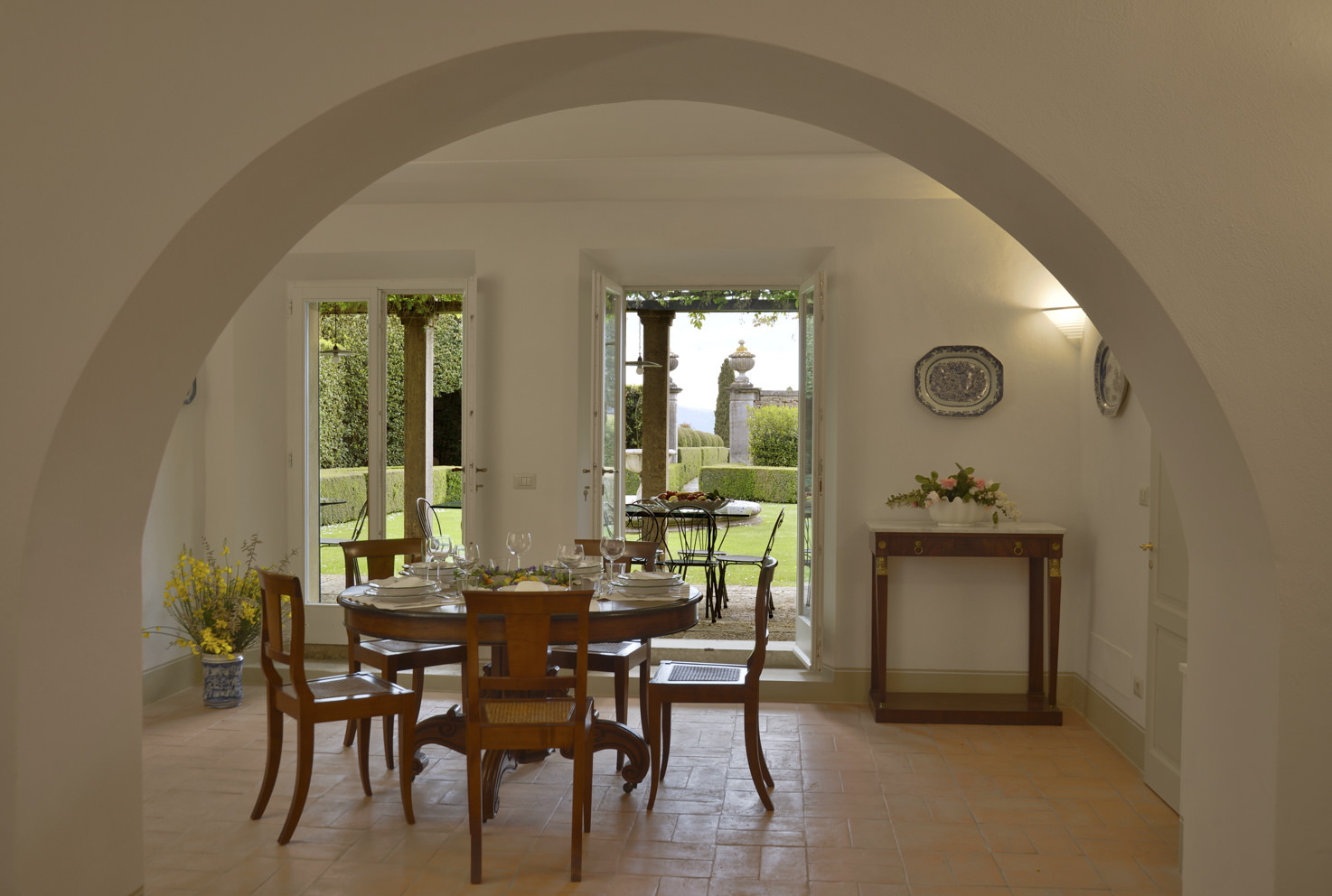 Interior of Villa La Foce