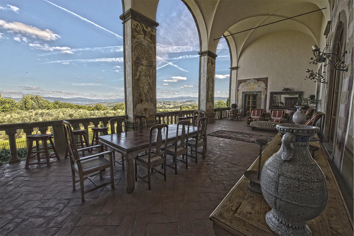 Frescoed Loggia, Villa Mangiacane