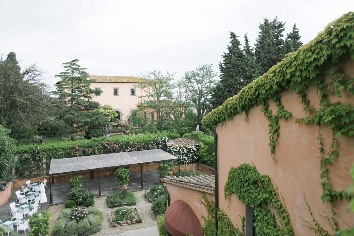 Villa Mangiacane, view from Villa Mazzei