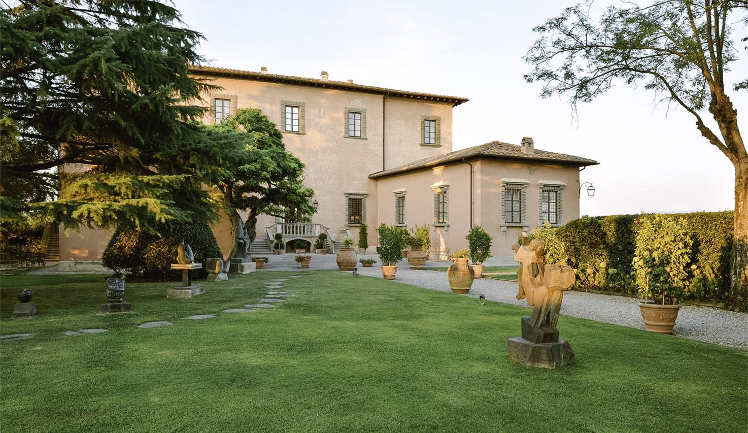 Façade of Villa Mangiacane