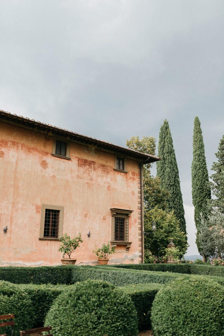 Exterior of the villa