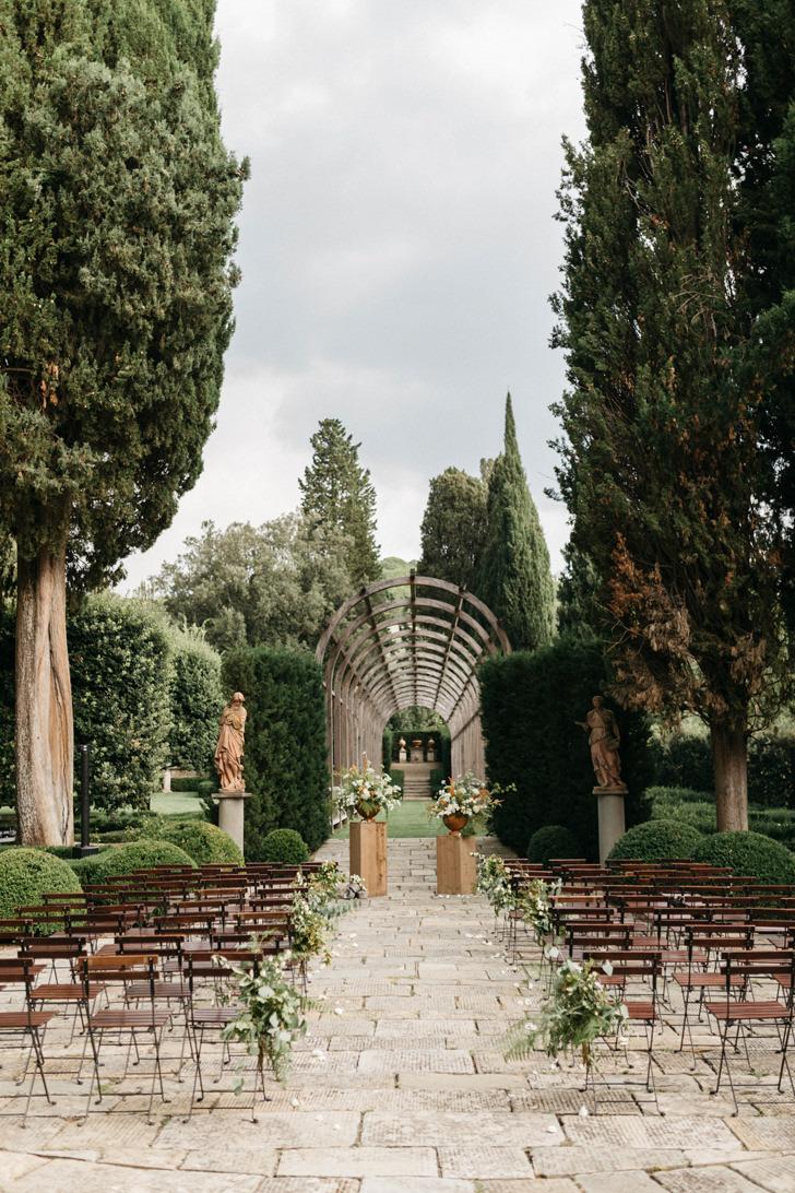 Wedding ceremony at Villa Vignamaggio