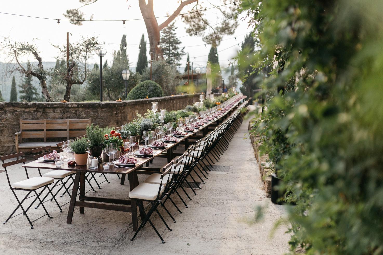 Welcome dinner at Villa Vignamaggio