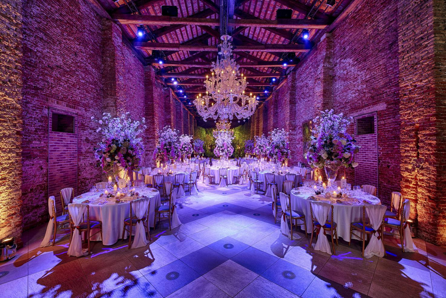 Luxury decoration for wedding reception