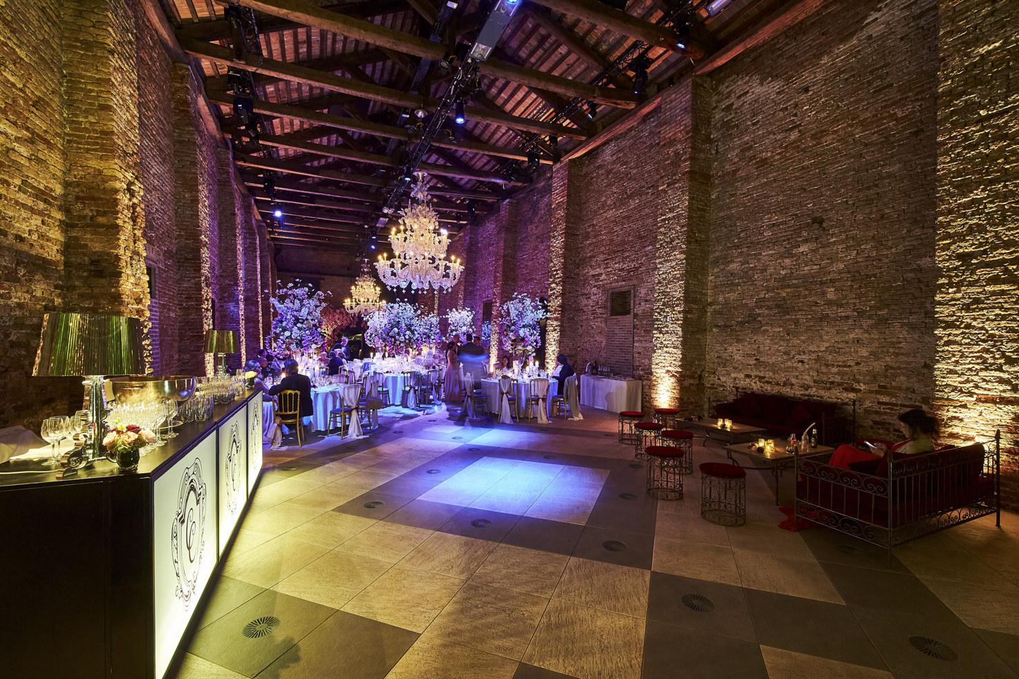 Open bar for wedding banquet