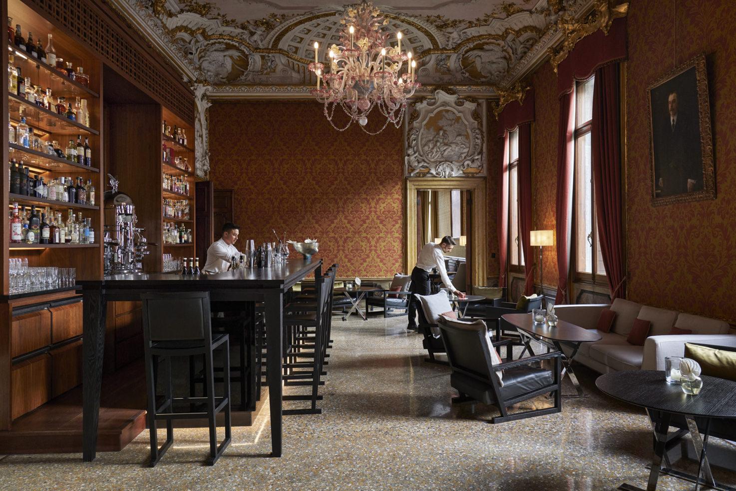 Bar of Aman Venice Hotel