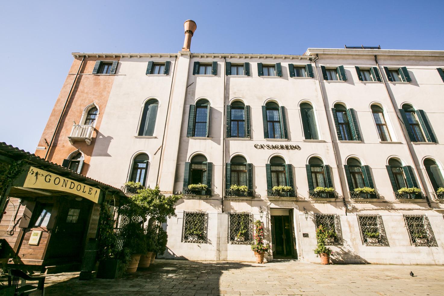 Entrance of Cà Sagredo Palace, Venice