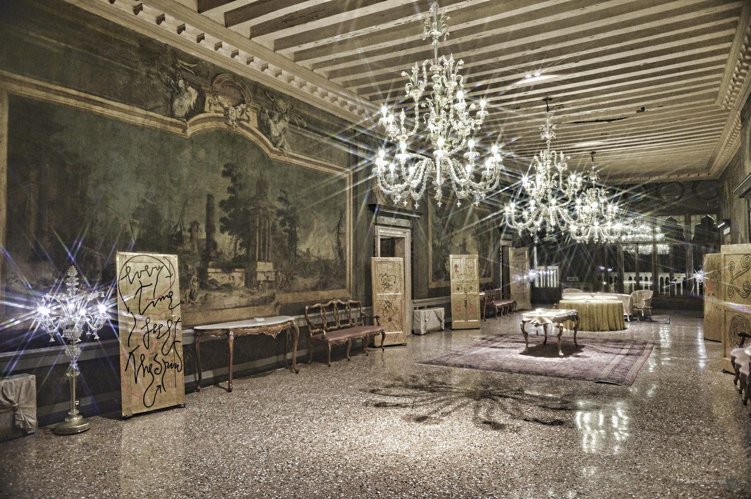 Portego Hall for wedding receptions at Cà Sagredo