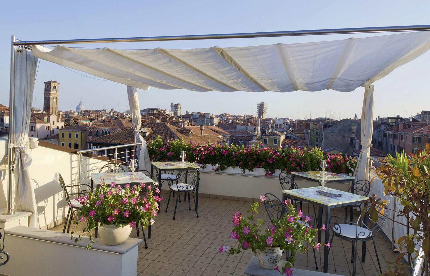 Panoramic terrace of Cà Sagredo