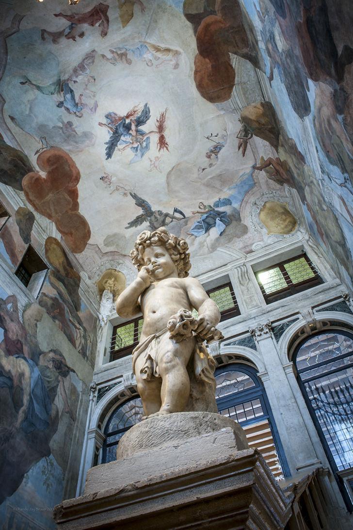 Frescoed staircase