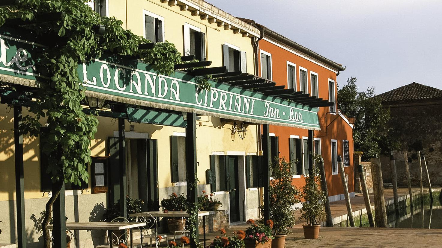 Façade of Locanda Cipriani, Venice