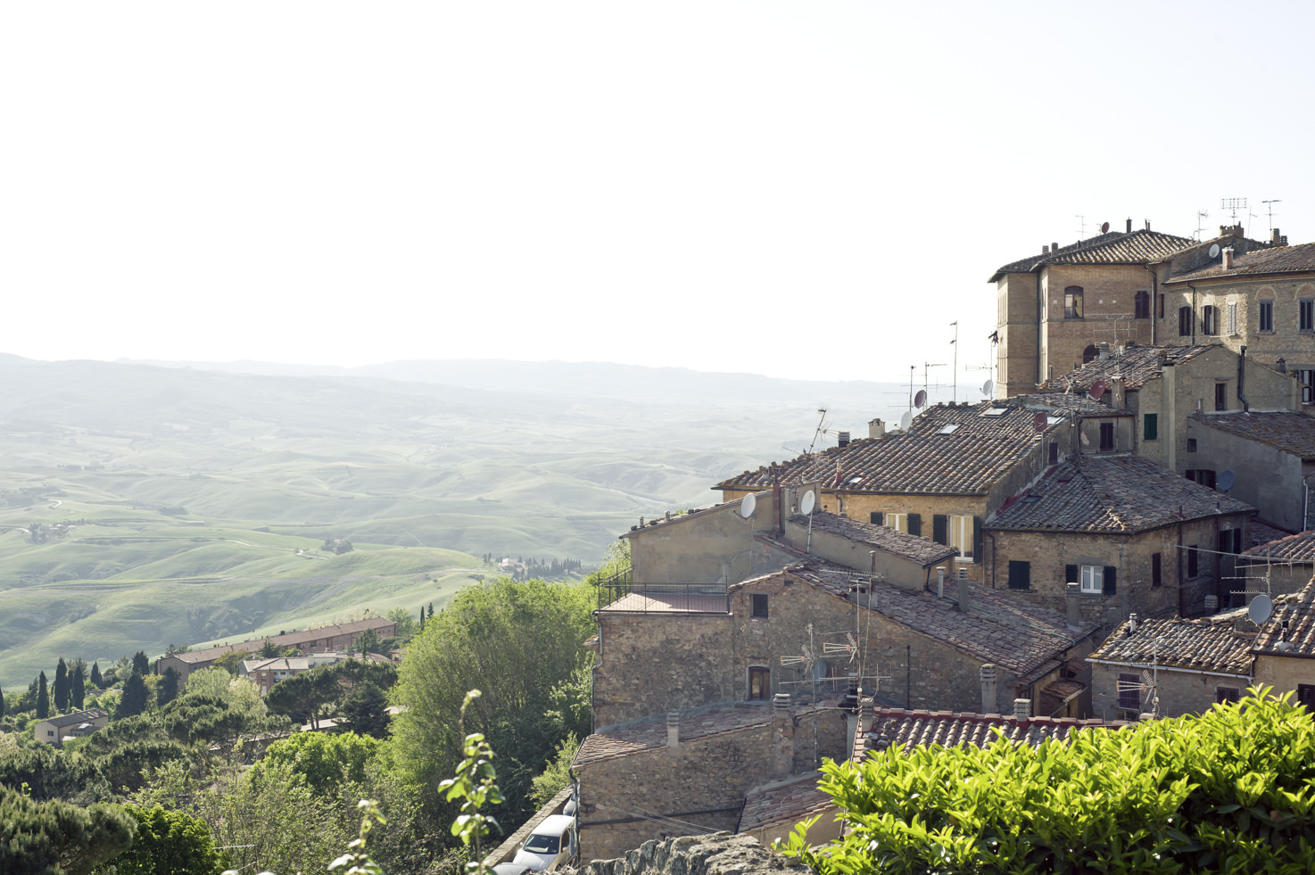 Panorama of the old town of Volterra