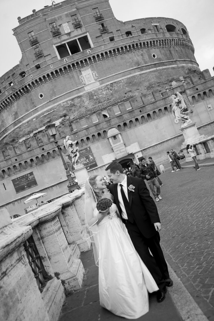 Bridal couple in Rome
