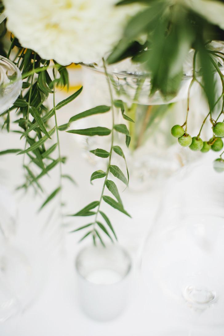 Flowers for wedding reception