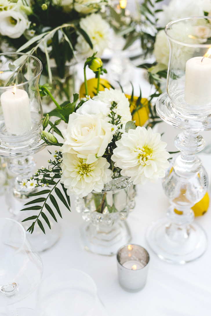 Flower decorations on the table