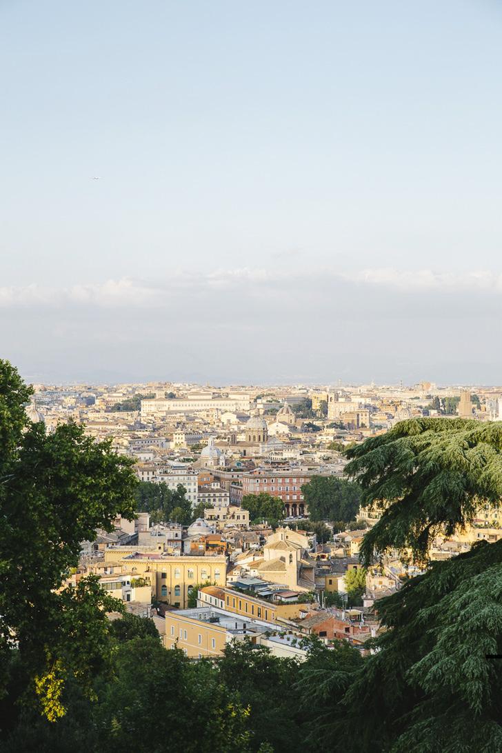 Panorama of Rome, view from Villa Aurelia