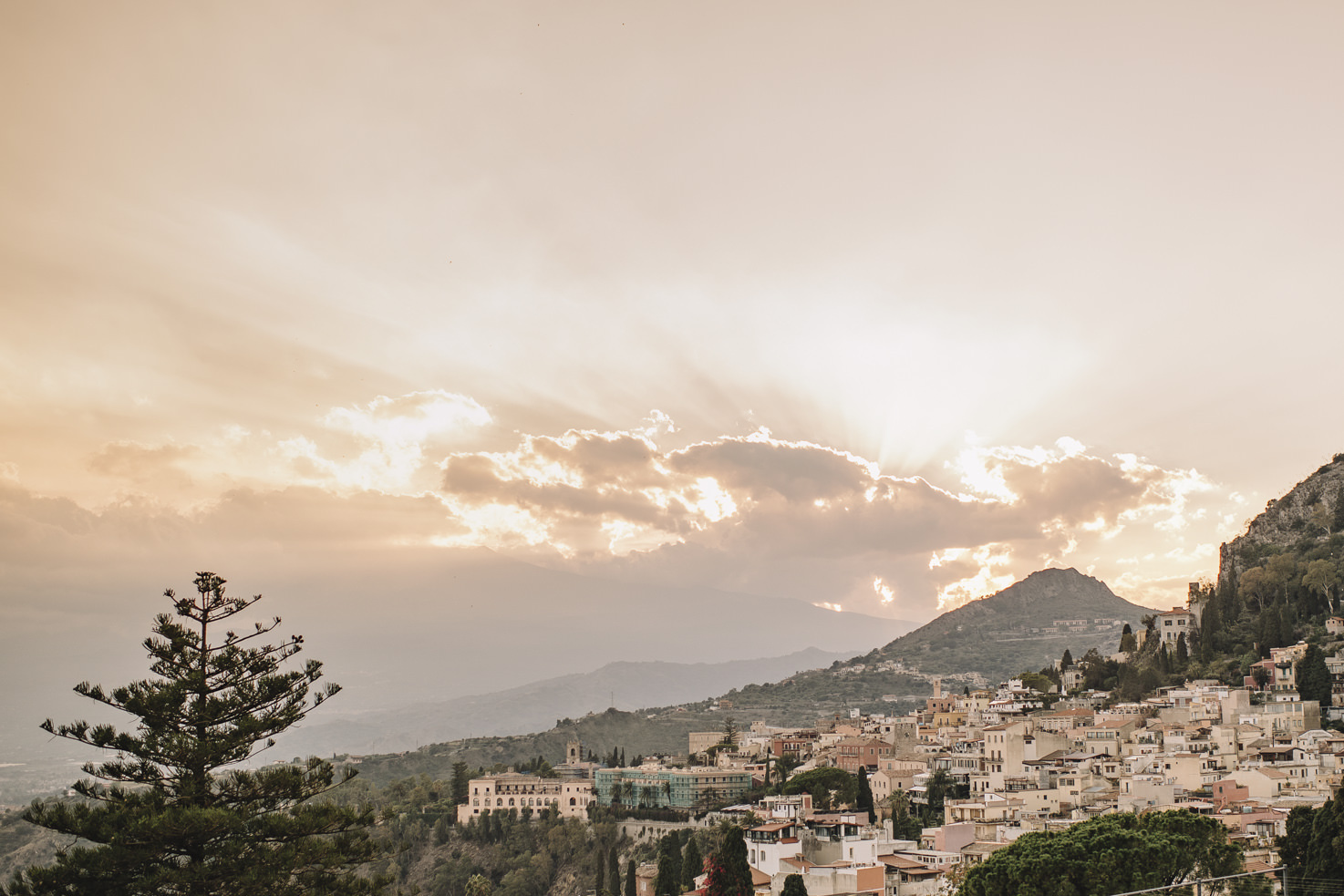 Panorama of Mount Etna in Sicily