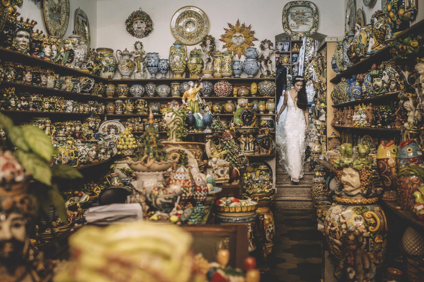 Maiolica shop in Sicily