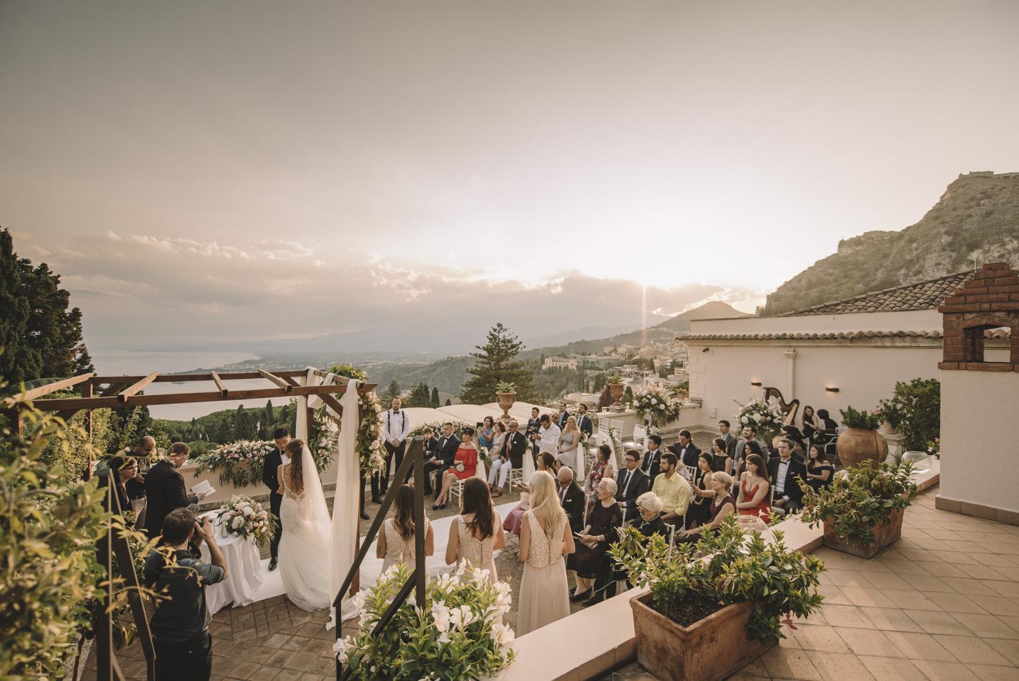 Wedding ceremony in Sicily
