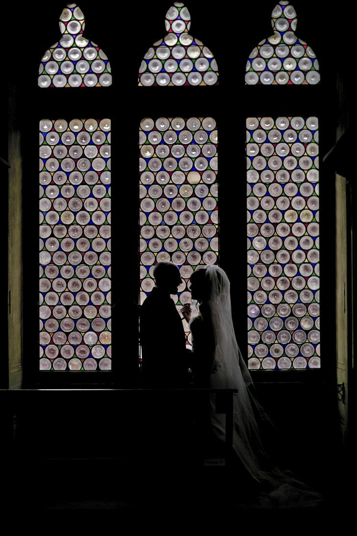 Bridal couple in Siena