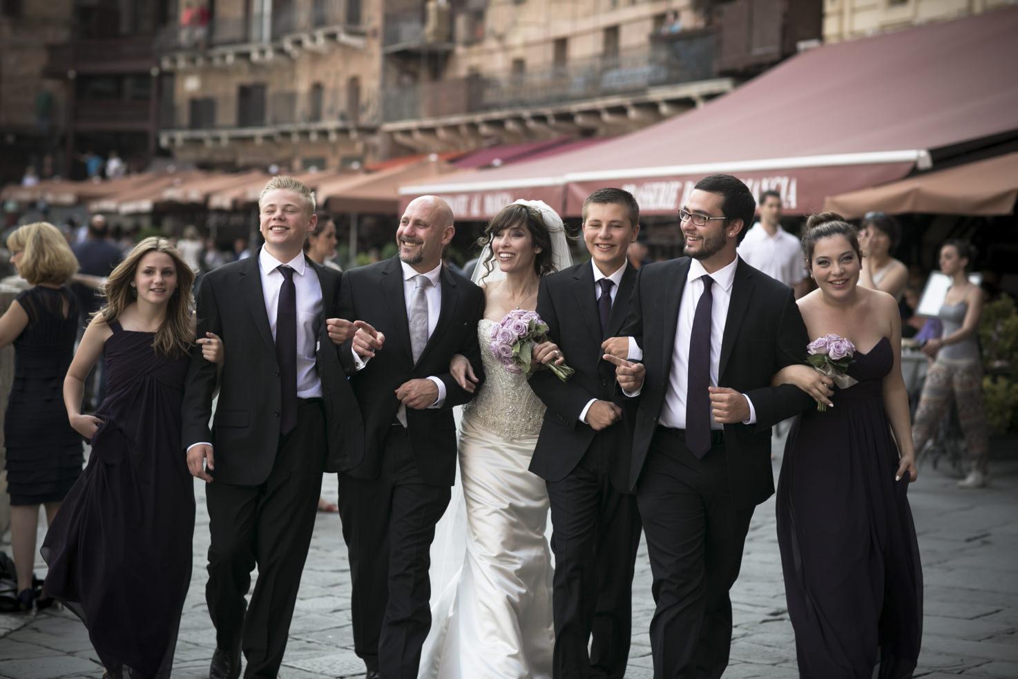Bridal party in Siena