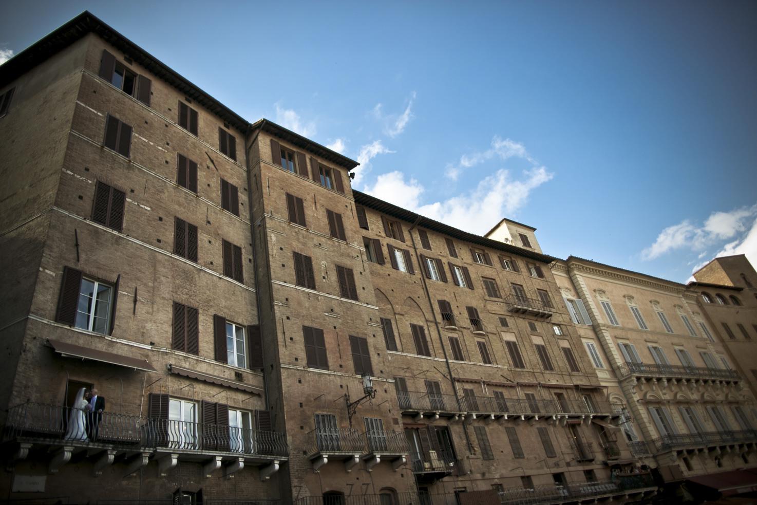 Ancient palaces in Piazza del Campo, Siena