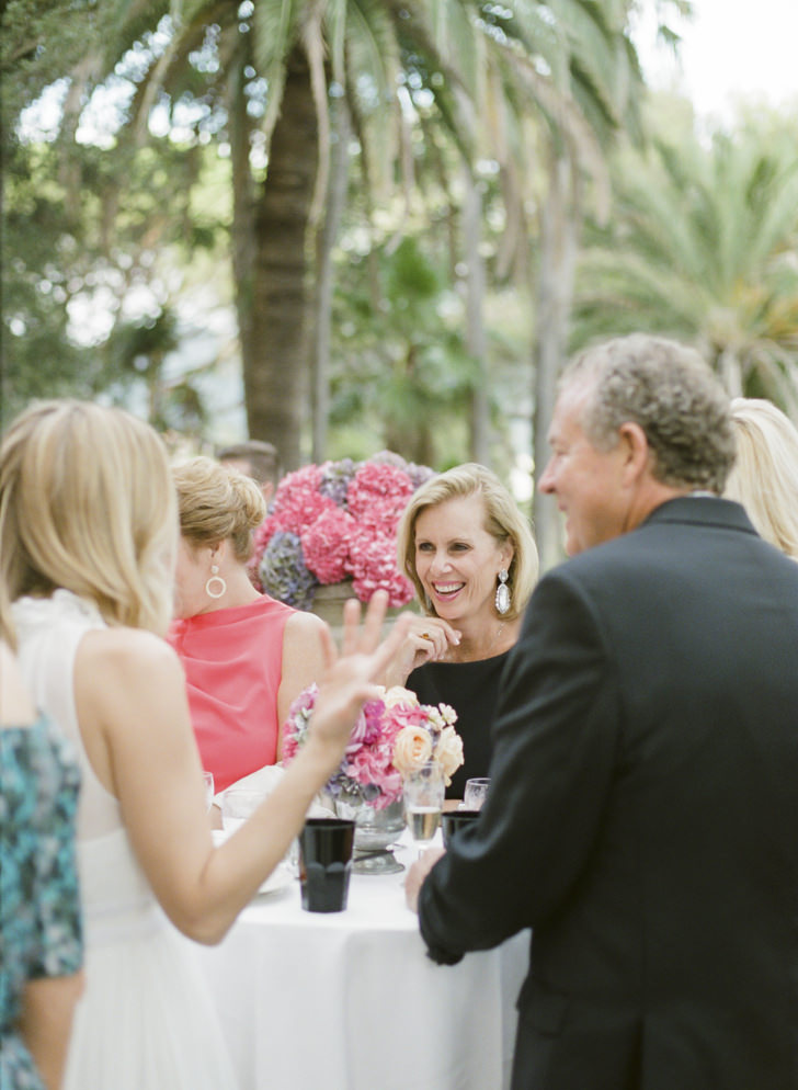 Wedding guests during the cocktail