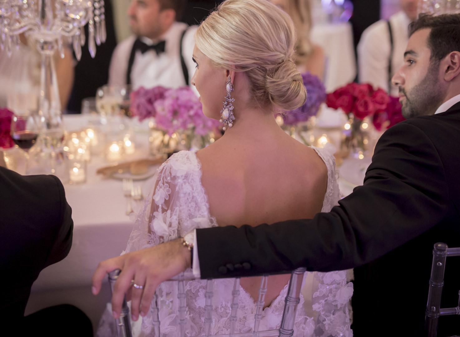 Wedding reception at Villa Durazzo