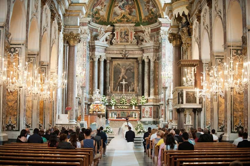 Catholic wedding in amalfi weddings on the amalfi coast interiors of amalfi duomo junglespirit Gallery