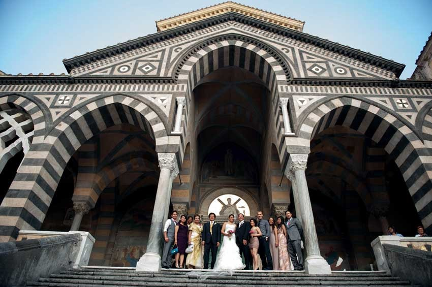 Amalfi Duomo for catholic weddings