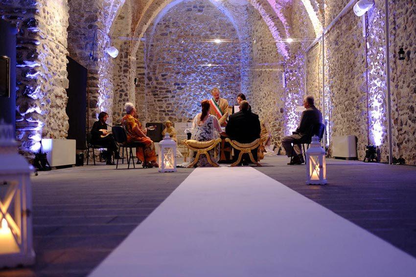 Civil Wedding in Amalfi Arsenal