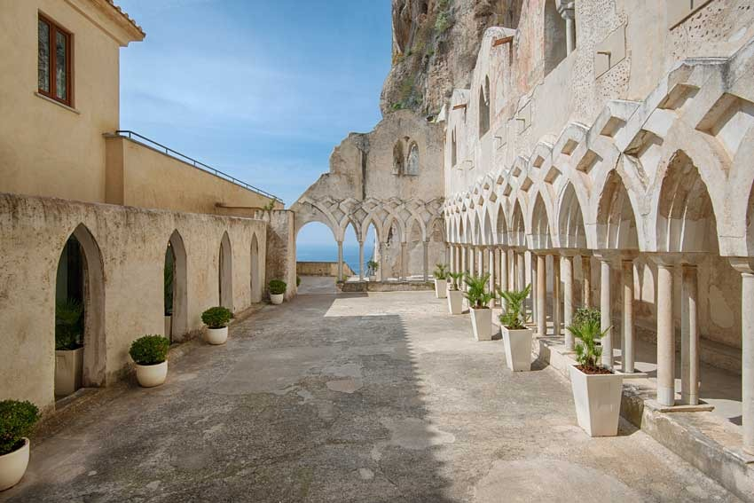 Ancient cloister in five star hotel in Amalfi