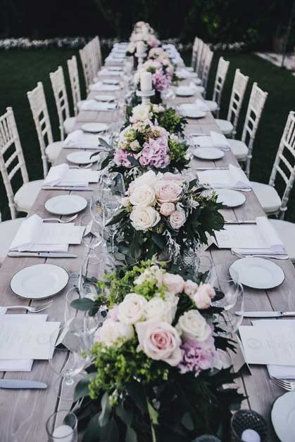 Amalfi Coast wedding reception