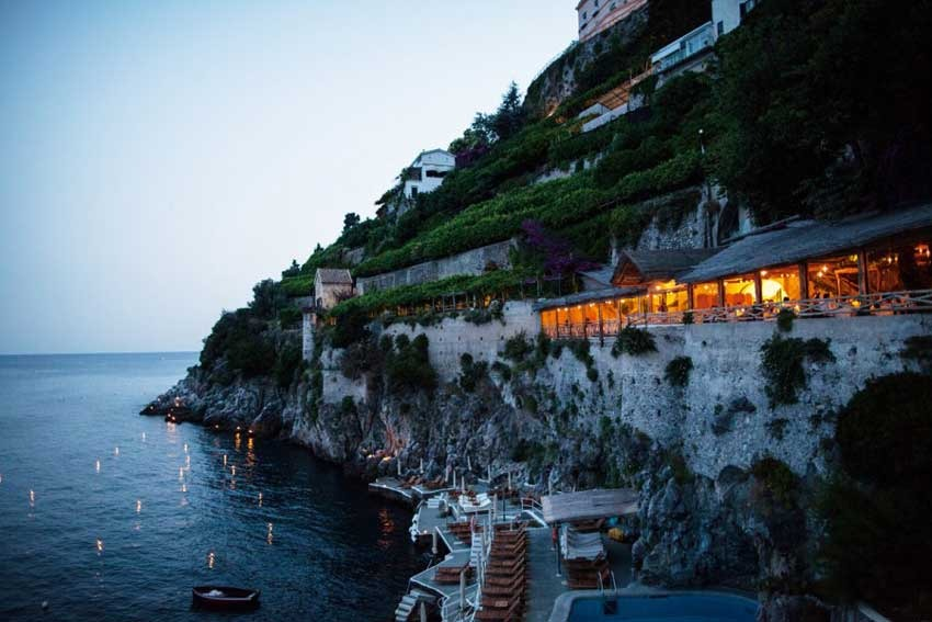 Amalfi luxury hotel with seaview