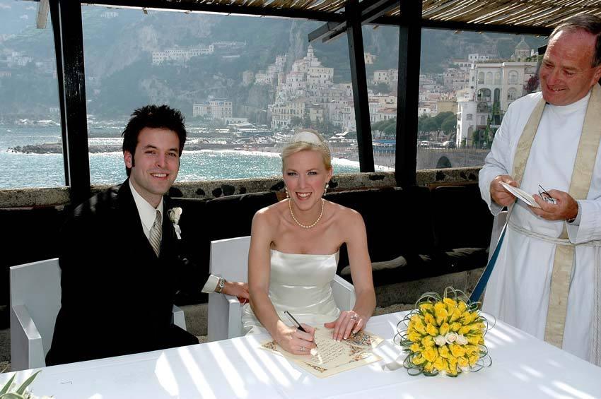 Protestant ceremony in Amalfi