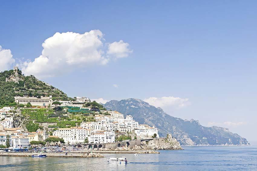 Amalfi wedding reception in medieval convent