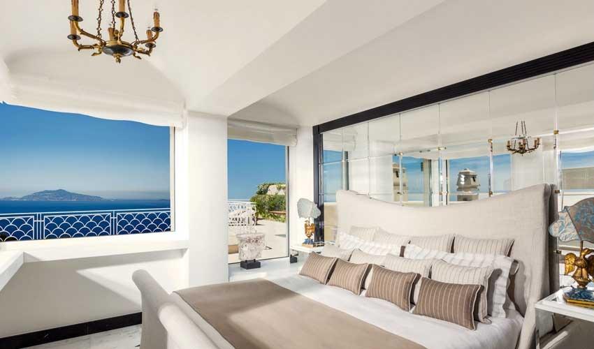 Rooms at Capri Palace for Capri weddings