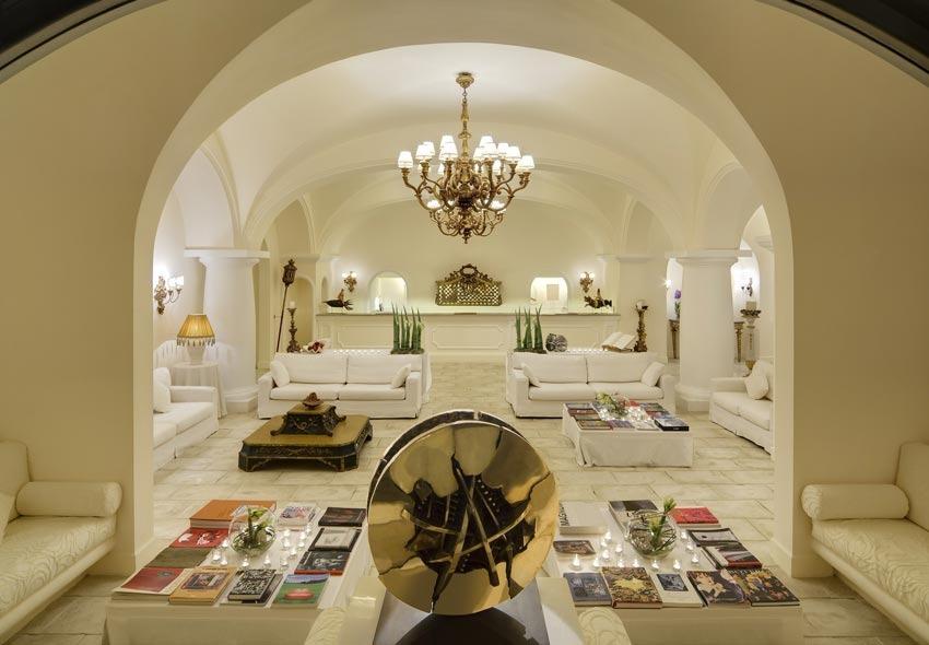 Hall of Capri Palace Hotel
