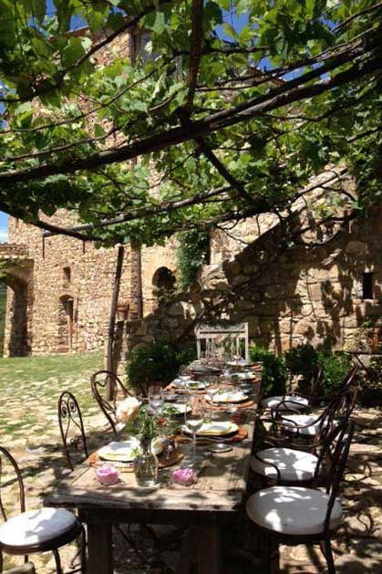 Gardens of Castello di Vicarello for Tuscany weddings