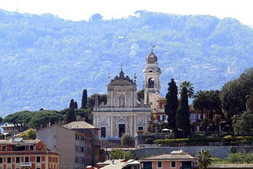 Church in Santa Margherita for catholic weddings on the Italian Riviera