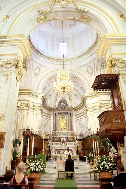 Positano church for catholic weddings