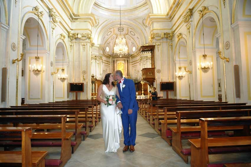 Positano catholic wedding