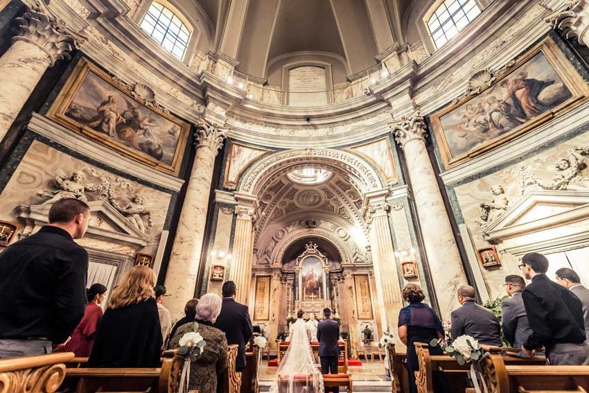 Church Of Sant Anna For Catholic Weddings In Rome
