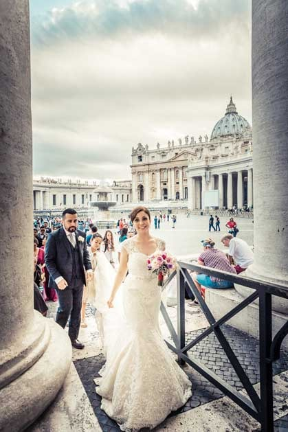 Catholic wedding in Vatican City
