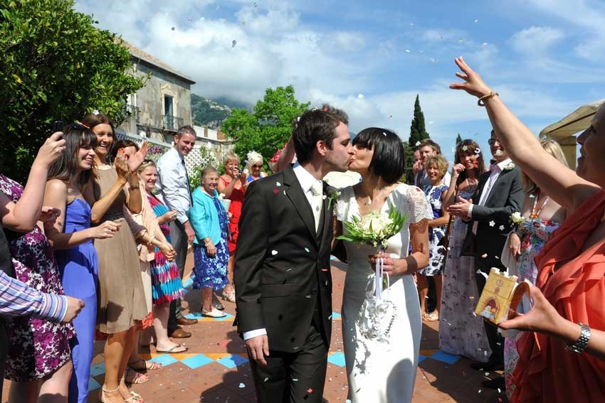Civil wedding in Positano on the Amalfi Coast