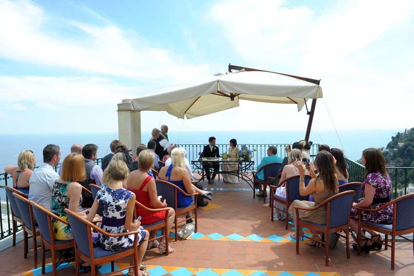 Panoramic terrace for civil weddings in Positano