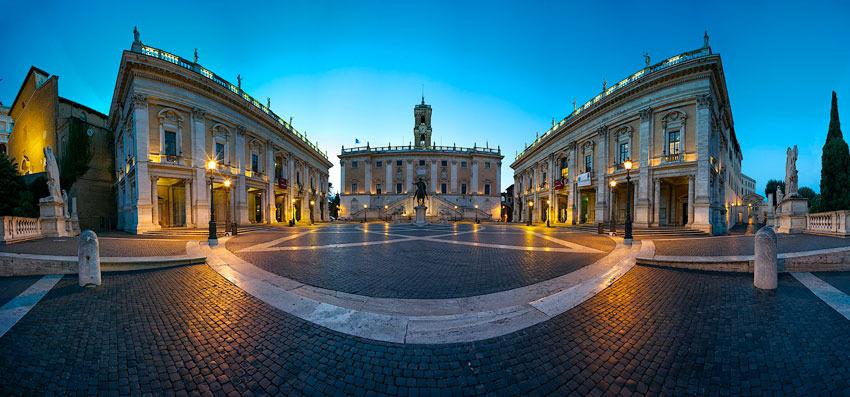 piazza Campidoglio for civil weddings in Rome