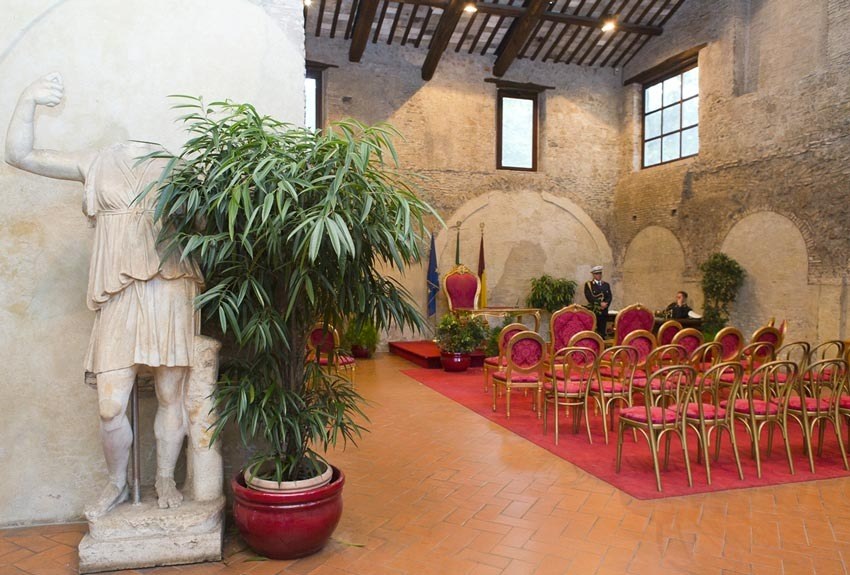 Caracalla hall for civil weddings in Rome