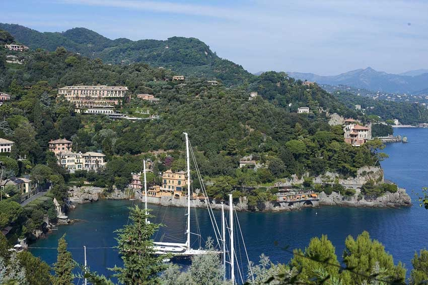 Panorama of Portofino on the Italian Riviera